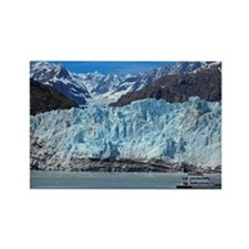 Tour boart at Margerie Glacier in Rectangle Magnet