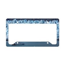Tour boat at Margerie Glacier License Plate Holder