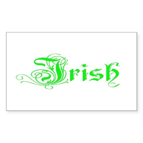 Irish Rectangle Sticker