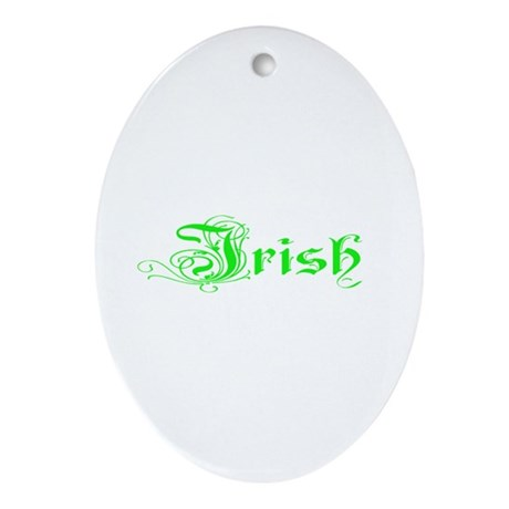 Irish Oval Ornament