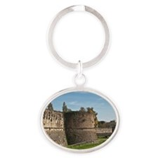 the fortress of ravenna Oval Keychain