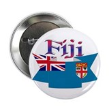 Fiji flag ribbon Button