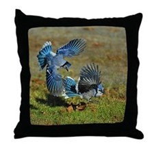2 Blue Jays Throw Pillow