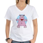 Hippo Hug Women's V-Neck T-Shirt