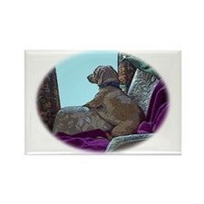 I will wait for you dachshund Rectangle Magnet