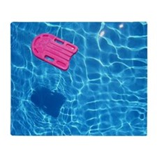 Swimming pool Throw Blanket