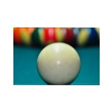 Pool ball with the white cue ball Rectangle Magnet