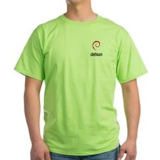 Green Debian T-Shirt