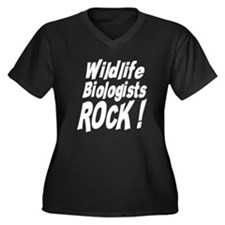 Wildlife Biologists Rock ! Women's Plus Size V-Nec