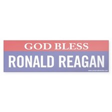 God Bless Ronald Reagan Bumper Bumper Sticker