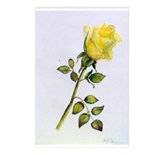 Yellow Rose Postcards (Package Of 8)