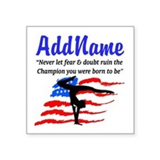 "USA GYMNAST Square Sticker 3"" x 3"""