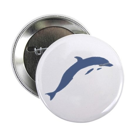 "Blue Dolphin 2.25"" Button (10 pack)"