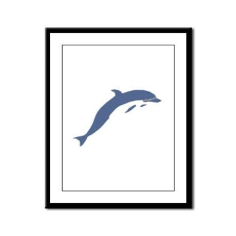 Blue Dolphin Framed Panel Print