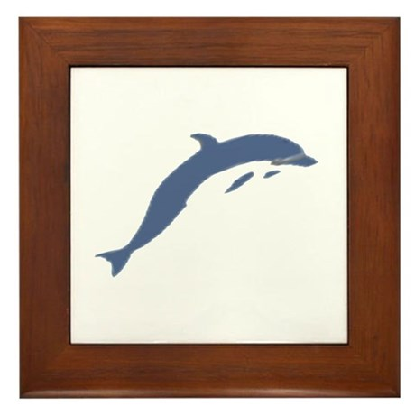 Blue Dolphin Framed Tile