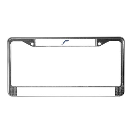 Blue Dolphin License Plate Frame