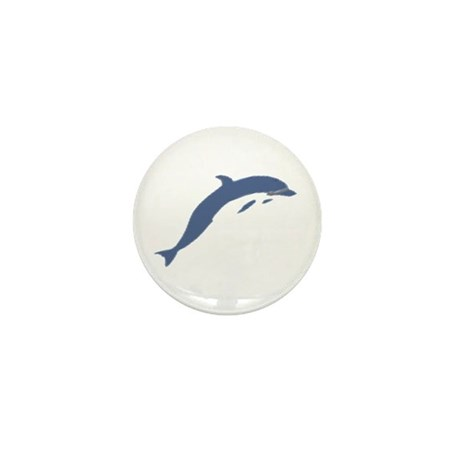 Blue Dolphin Mini Button