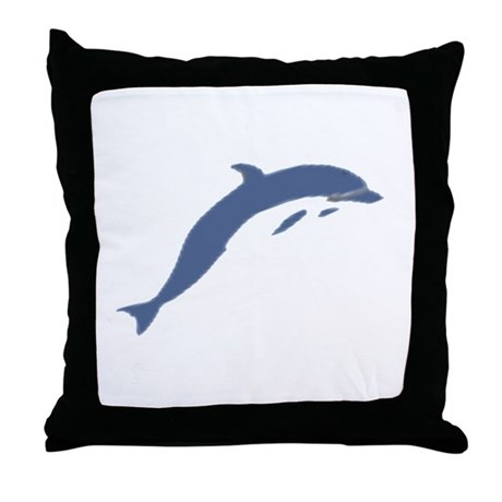 Blue Dolphin Throw Pillow