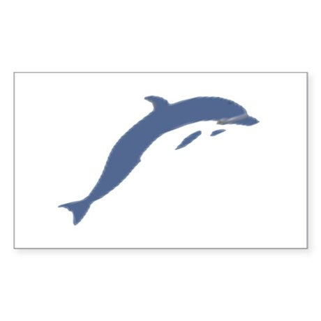 Blue Dolphin Rectangle Sticker