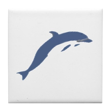 Blue Dolphin Tile Coaster
