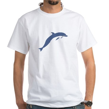 Blue Dolphin White T-Shirt