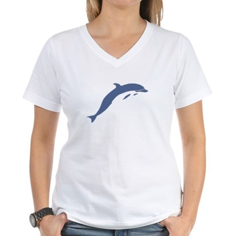 Blue Dolphin Women's V-Neck T-Shirt