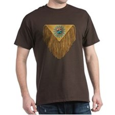 Hopi Sunface Leather Yoke T-Shirt