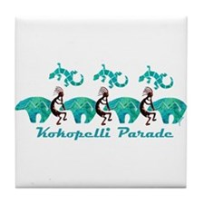 Kokopelli Parade Tile Coaster