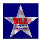 USA Safeguard Our Shores Tile Coaster