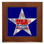 USA Safeguard Our Shores Framed Tile