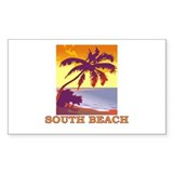 South Beach, Florida Rectangle Decal