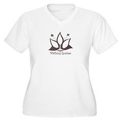 Birthing Goddess Plus Size V-Neck T-Shirt