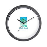 South Beach, Florida Wall Clock