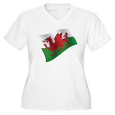Welsh Flag Plus Size T-Shirt