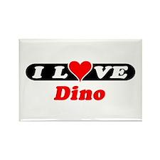 I Love Dino Rectangle Magnet