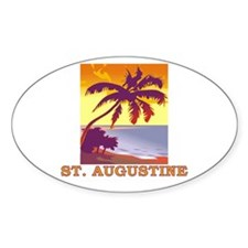 St. Augustine, Florida Oval Decal