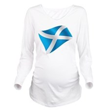 Scotland Flag Long Sleeve Maternity T-Shirt