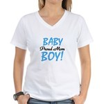 Baby Boy Proud Mom Women's V-Neck T-Shirt