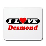 I Love Desmond Mousepad
