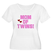 Mom of Twin Girls T-Shirt