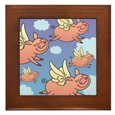 When Pigs Fly Framed Tile