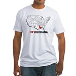 I Love Louisiana Fitted T-Shirt
