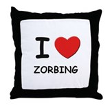 I love zorbing  Throw Pillow