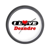 I Love Deandre Wall Clock