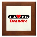 I Love Deandre Framed Tile