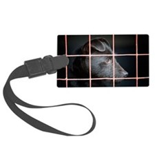 Patterdale terrier Large Luggage Tag