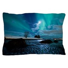 Aurora Borealis over Troms Pillow Case