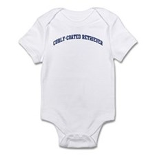 Curly-Coated Retriever (blue) Infant Bodysuit