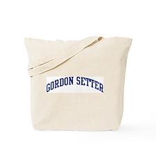 Gordon Setter (blue) Tote Bag