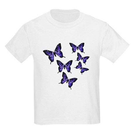 Purple Butterflies Kids Light T-Shirt
